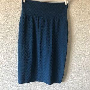 LULAROE chevron solid color pencil skirt sz small